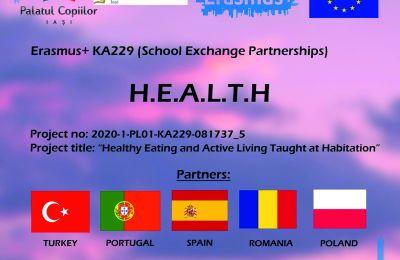 """Erasmus+ KA229 """"Healthy Eating and Living Taught at Habitation"""" – HEALTH"""